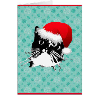 Have A Frazzy Christmas! Cat Card