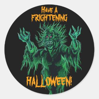 Have A Frightening Halloween! Classic Round Sticker