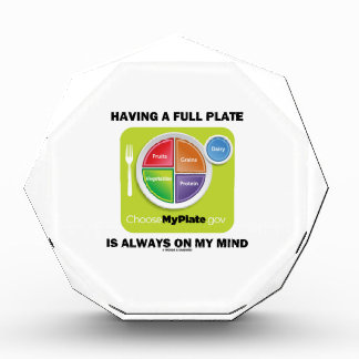 Have A Full Plate Is Always On My Mind Food Groups Award