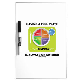 Have A Full Plate Is Always On My Mind Food Groups Dry Erase Whiteboard