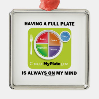 Have A Full Plate Is Always On My Mind Food Groups Christmas Ornaments