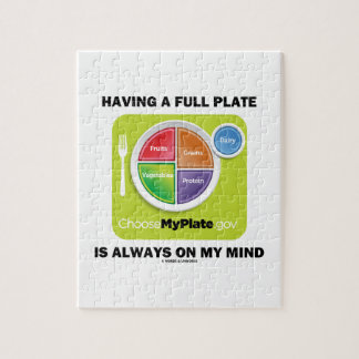 Have A Full Plate Is Always On My Mind Food Groups Jigsaw Puzzle