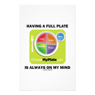 Have A Full Plate Is Always On My Mind Food Groups Stationery Design