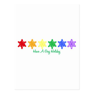 Have A Gay Holiday (Rainbow Snowflakes) Postcards