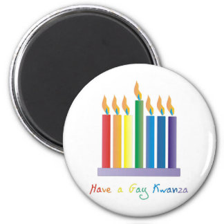 Have a Gay Kwanza 2 Inch Round Magnet