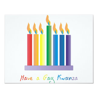 Have a Gay Kwanza Custom Announcements