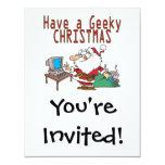 have a geeky christmas santa computer tech 4.25x5.5 paper invitation card