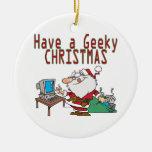 have a geeky christmas santa computer tech christmas ornament