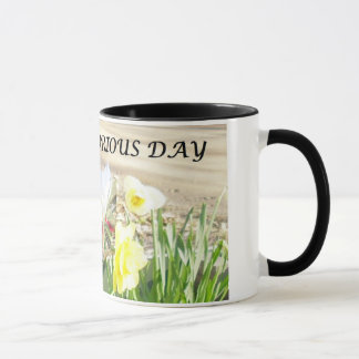 Have A glorious Day Black Ringer Coffee Mug