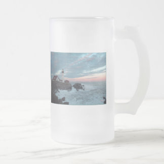 Have a Glorious Day! Frosted Glass Beer Mug