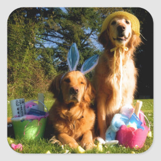 Have a Golden Easter Square Sticker
