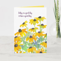 Have A Good Day Black Eyed Susan Flowers Card