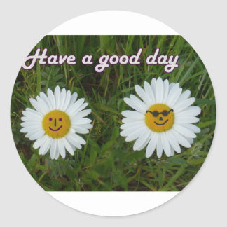Have A good day Round Stickers