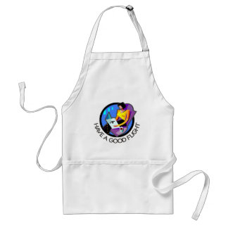 Have a good flight, bon voyage! Flying passenger Adult Apron