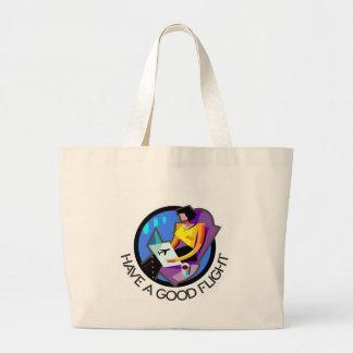 Have a good flight, bon voyage! Flying passenger Canvas Bags