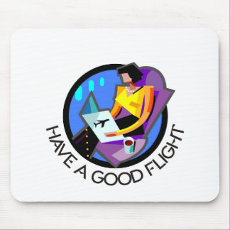 Have a good flight, bon voyage! Flying passenger Mouse Pads