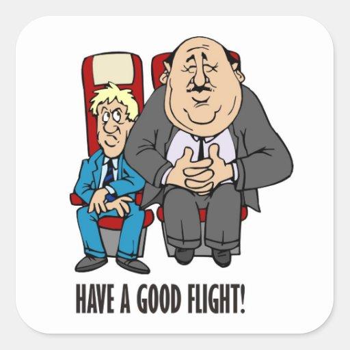 Have a good flight, squashed passenger! Bon Voyage Stickers