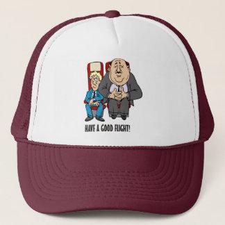 Have a good flight, squashed passenger! Bon Voyage Trucker Hat