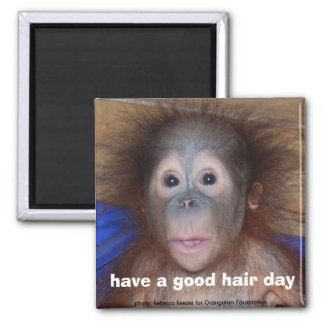 Have a Good Hair Day cute red haired baby Magnet
