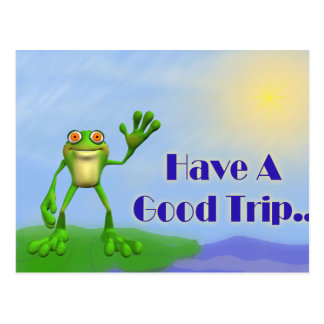 Have A Good Trip-Frog Postcard