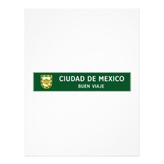 Have a Good Trip, Traffic Sign, Mexico Letterhead Design