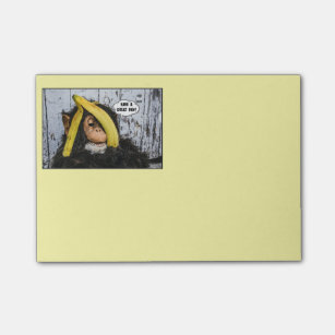 """""""Have a Great Day!"""" from Happy Chimp Post-it Notes"""