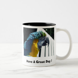 Have A Great Day ! Macaw Two-Tone Coffee Mug