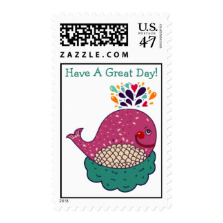 Have A Great Day Whale Postage