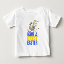 Have a great Easter,Bunny riding a chicken. Baby T-Shirt