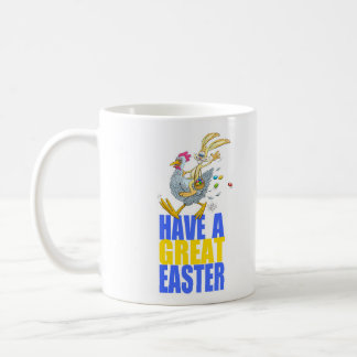 Have a great Easter,Bunny riding a chicken. Coffee Mug