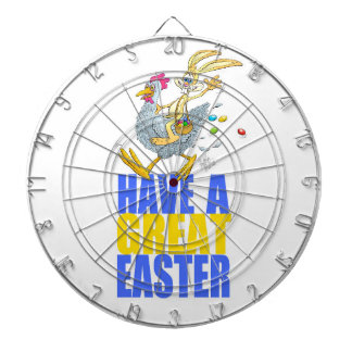 Have a great Easter,Bunny riding a chicken. Dart Board