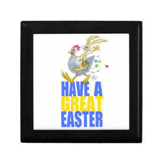 Have a great Easter,Bunny riding a chicken. Gift Box