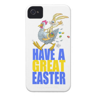 Have a great Easter,Bunny riding a chicken. iPhone 4 Case-Mate Case