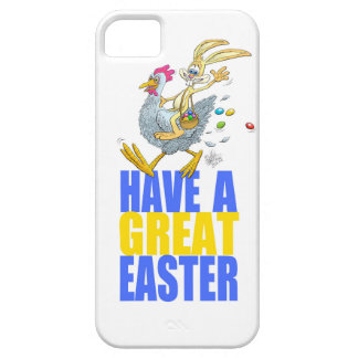 Have a great Easter,Bunny riding a chicken. iPhone SE/5/5s Case