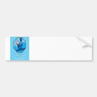 Have a Great Labor Day Retro Greeting Card Bumper Sticker