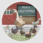 Have a Great Summer Vacation! Round Sticker