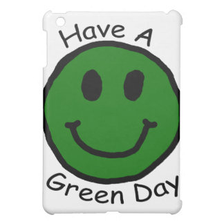 Have A Green Day Retro Smiley Face Cover For The iPad Mini