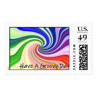 Have A Groovy Day Postage Stamps
