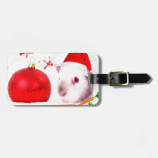 Have a Guinea Pig Christmas Luggage Tag
