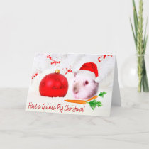 Have A Guinea Pig Christmas Novelty Design Holiday Card