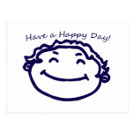 Have A Happy Day Happy Face Postcard