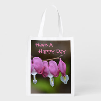 Have A Happy Day Heart Shopping Bag