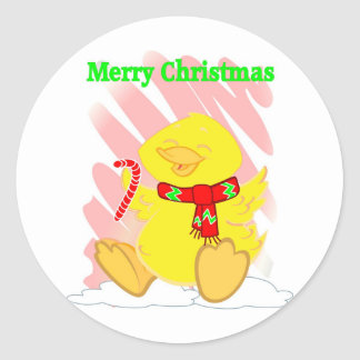 Have a Happy Duck Merry Christmas Sticker