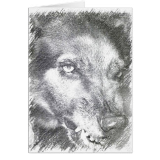 Have a Happy Halloween Wolf Snarl Card