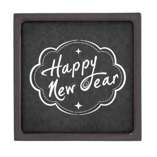 Have a Happy New Year Premium Trinket Box