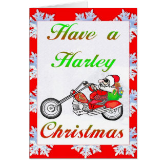 have a harley christmas greeting card