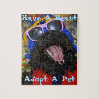 Have A Heart.  Adopt A Pet. Jigsaw Puzzle