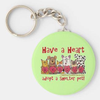 Have a Heart Basic Round Button Keychain