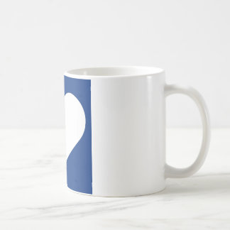 Have A Heart (Blue/White) Coffee Mug