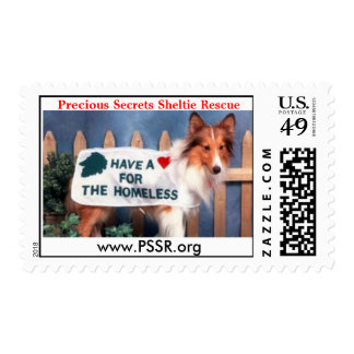 Have a Heart - donate, www.PSSR.org - Customized Postage